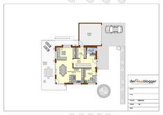 Hanghaus 231m2 EG.vpl Duplex House Design, Beach House Decor, Home Decor, Architecture Design, House Plans, Floor Plans, How To Plan, Projects, 1