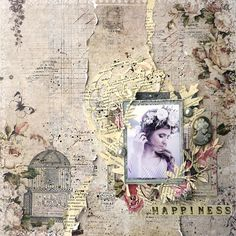 Happiness layout - Scrapbook.com