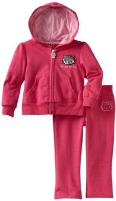 Hello Kitty Baby-girls Infant Sweatsuit with Front Pockets, Fuchsia Purple, 12 Months Hello Kitty. $16.99
