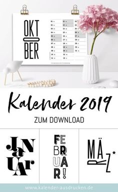 kalender 2019 zum ausdrucken gratis vorlagen zum download. Black Bedroom Furniture Sets. Home Design Ideas