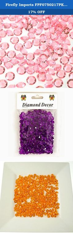 "Firefly Imports FPF0750217PK 300 Piece Small Diamonds Gemstone Table Confetti, 3/8"", Pink. Just Scatter these unique diamond confetti on guest tables, add to a vase or centerpiece, or place anywhere you want to add a bit of dazzle. This product is manufactured in China."
