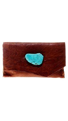 Soft Leather Wallet/Clutch - Cognac