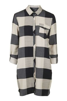 TALL Oversized Check Shirtdress - Dresses - Clothing - Topshop