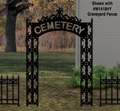 Graveyard Entrance Woodcraft Pattern Now you can have an authentic-looking entrance into your spooky yard cemetery this Halloween! #diy #woodcraftpatterns