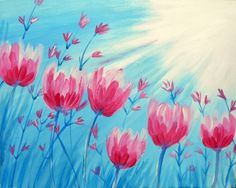 Browse our upcoming painting classes and events at Bricktown Pinot's Palette! Reserve your seat for the best paint and sip experience today! Painting Lessons, Art Lessons, Painting & Drawing, Wine And Canvas, Pastel, Spring Painting, Paint And Sip, Easy Paintings, Pictures To Paint