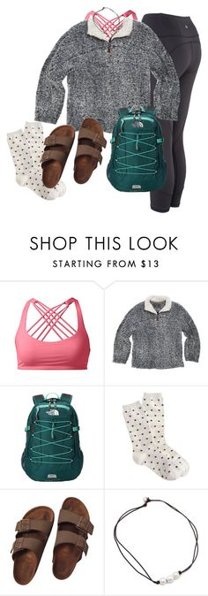 """school"" by prep-lover1 ❤ liked on Polyvore featuring lululemon, True Grit, The North Face and Birkenstock"