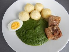 Špenát,maso a bramborové kuličky - Recepty pro každého - Super recept