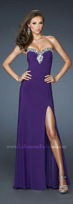 Majestic Purple Gown