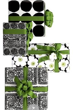 SOURCE UNKNOWN | Such cute hand-rendered gift wrap designs. It was created for #Christmas but I think this would be great year round.