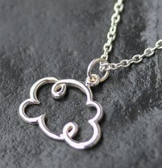 Cloud Necklace Sterling silver Dainty Simple by SimplisticaDesign, $27.00