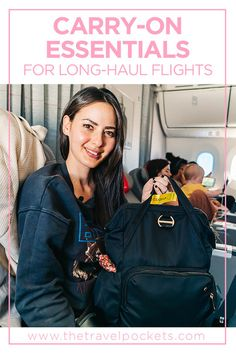 Smart and Practical Things to Pack in Your Carry-on Bag for Long Haul Flights – Travel Pockets – travel outfit plane long flights Carry On Bag Essentials, Travel Essentials, Long Flight Outfit, Travel Bags For Women, Long Flights, Travel Wardrobe, Long Haul, Travel Style, Travel Fashion
