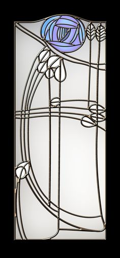 This is my cover of a leaded glass panel that took my interest. I don't have any information about it, other than I like it a lot.