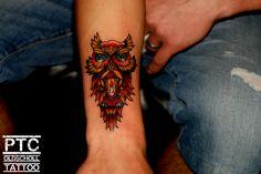 owl oldschool tattoo  baykuş tattoo dövme  ptc tattoo batın