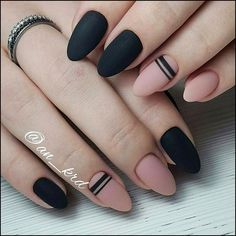 """If you're unfamiliar with nail trends and you hear the words """"coffin nails,"""" what comes to mind? It's not nails with coffins drawn on them. It's long nails with a square tip, and the look has. Dark Nails, Matte Nails, Acrylic Nails, Coffin Nails, Dark Nail Art, Stiletto Nails, Gel Nail, Dark Art, Stylish Nails"""