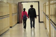 I saw this young couple walking down the hall at Mattanawcook Academy, and thought it would make a great shot.
