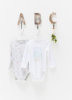 The Spunky Stork Seas The Day Beach Please Organic Cotton Baby Bodysuit Set Bodysuits