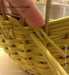 Мастер-класс Поделка изделие Плетение Послойное плетение двойными трубочками загибка-розга двойная ручка +MK Бумага газетная Трубочки бумажные фото 5