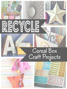 Recycled Cereal Box Projects