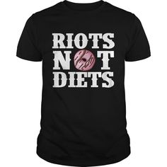 Get yours hot Riots Not Diets Feminism Protest Donut Funny Feminist Best Gift Shirts & Hoodies.  #gift, #idea, #photo, #image, #hoodie, #shirt, #christmas