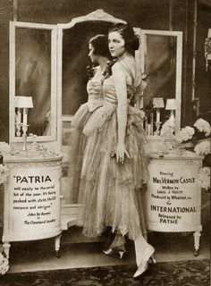 """indypendent-thinking: """" Ad Patria (1916-1917), Irene Castle (a), Lady Lucy Duff-Gordon costume design, """""""