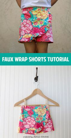 Faux Wrap Shorts Tutorial -- this simple pattern is something I think I can actually DO!