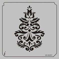 89-00297 - All Over Repeats Stencils - Wallpaper Stencils - Stencil Pattern