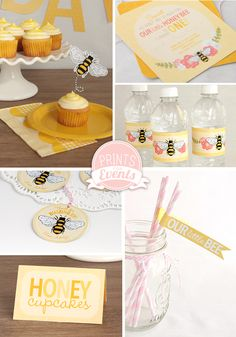 Printable Honey Bee Party Decor by Prints For Events
