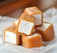 Caramel-Wrapped Marshmallows. Yum!