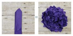 Tissue paper flowers - petal points
