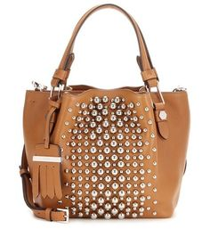 FLOWER MICRO EMBELLISHED LEATHER BAG TOD'S