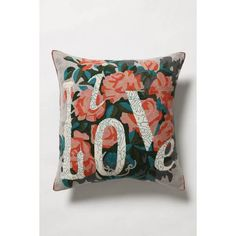 Anthropologie Live Love Pillow アンソロポロジー リヴ・ラブ ピロー