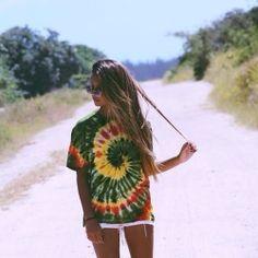 Summer Outfit tye-die shirt<3