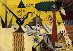 Joan Miró, The Tilled Field, 1923–24. Oil on canvas, 26 x 36 1/2 inches (66 x 92.7 cm)