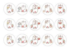 Edible cake toppers with cute Unicat illustrations that are perfect for any kind of party,  available on standard rice paper, premium rice paper or icing. All products are 100% edible and easy to use. Suitable for use as cocktail toppers and ice cream decs. Next day delivery available - buy now!
