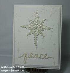 SU Starlight Thinlits, Peace sentiment from SU Chtistmas Greetings die set…