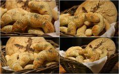 U nás na kopečku: ...domácí rohlíky... Czech Recipes, Great Recipes, Stuffed Mushrooms, Bread, Vegetables, Czech Food, Cooking, Pizza, Sew