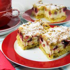 Ciasto z malinami i lekką pianką waniliową | Świat Ciasta