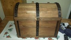 Pirate's chest from recycled wood.