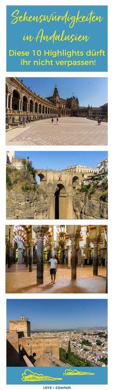Auf eurer Andalusien Rundreise warten auf euch die tollsten Sehenswürdigkeiten! Neben der Alhambra hat auch die Stadt Cordoba mit ihrer Mezquita einen Besuch verdient. Was es sonst noch während eurem Andalusien Urlaub zu sehen gibt, erfahrt ihr im Beitrag. (Cordoba, Sevilla, Ronda, Malaga, Antequera, Caminito del Rey, El Torcal, Granada)