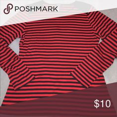 ❤️NEW LISTING❤️ Chaps red and navy long sleeve top Like new long sleeve top. In great condition! Chaps Tops Tees - Long Sleeve