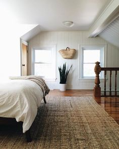 white and wood, cozy modern