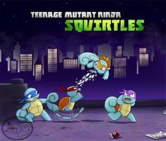Teenage Mutant Ninja Squirtles by Myrling Teenage Ninja Turtles, Ninja Turtles Art, Tmnt Games, Viewtiful Joe, Tmnt Comics, Childhood Tv Shows, Crossover, Tmnt 2012, Dc Movies