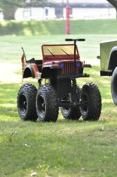 If my husband had seen this when my kids were small-we would own one.  How cool! repinned by JeepDreamsUSA.com #JeepDreams