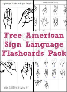 If you're looking to teach your baby or toddler the ASL alphabet, be sure to check out this free set of American Sign Language flashcards. #asl #freeprintables #aslforbabies #aslfortoddlers #aslforkids #americansignlanguage