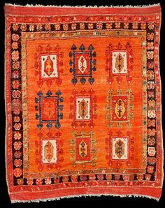 """Just for those colours. This is listed as """"Konya rug, Central Anatolia. Diy Carpet, Rugs On Carpet, Cheap Carpet, Magic Carpet, Carpet Ideas, Discount Area Rugs, Classic Rugs, Carpet Colors, Contemporary Rugs"""