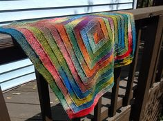 10 stitch blanket - on the needles!