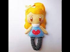 Tutorial´- Boneca de Feltro / Felt Doll
