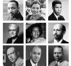 A few of America's civil rights leaders.   #NAACP #MLK #martinlutherking