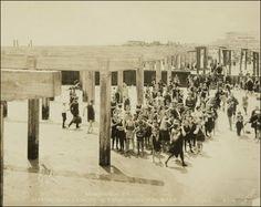 Coney Island in the 1920s (beach, boardwalk, vintage)
