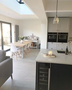What Does Kitchen Diner Extension Open Plan Dining Tables Mean? Kitchen Family Rooms, Living Room Kitchen, New Kitchen, Kitchen Ideas, Orangery Extension Kitchen, Kitchen Diner Extension, Open Plan Kitchen Dining Living, Open Plan Kitchen Diner, Narrow Kitchen